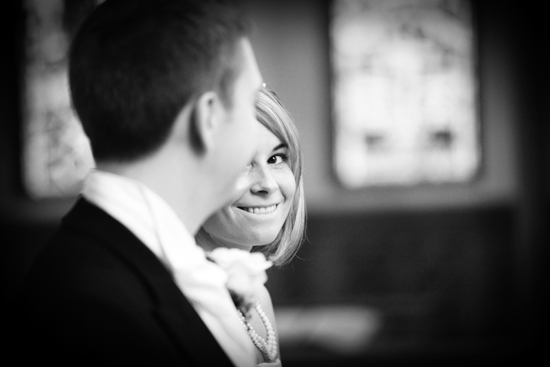 the bride and groom, St Agnes RC Church wedding