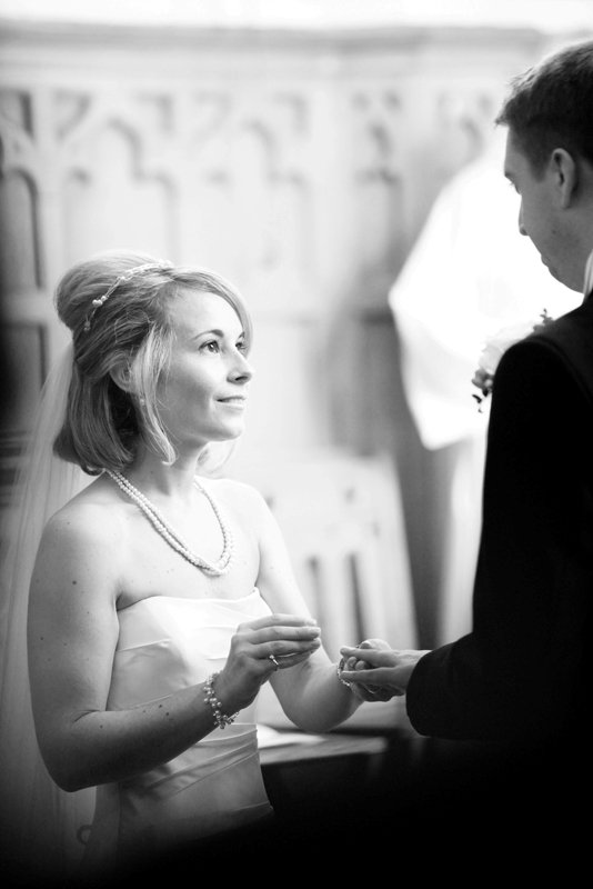 the bride and groom, wedding rings, St Agnes RC Church wedding