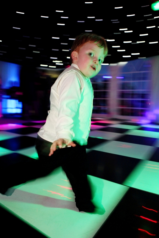dancing child, Soughton Hall North Wales wedding