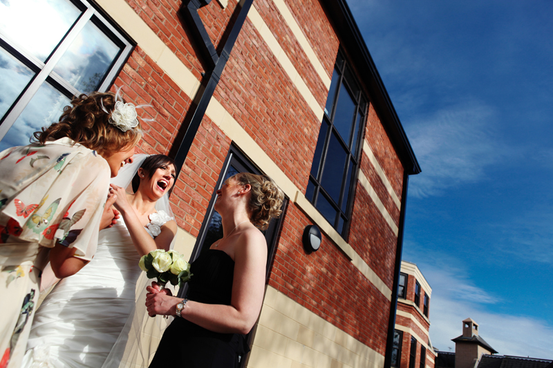 the bride, Rookery Hall Hotel wedding