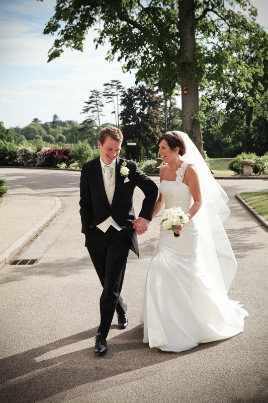 the bride and groom, Rookery Hall Hotel, Cheshire wedding