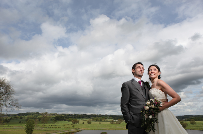 the bride and groom, The Ashes, Staffordshire wedding