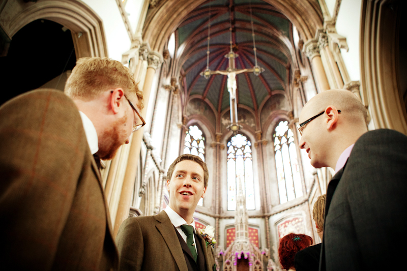 the groom at Gorton Monastery, Manchester