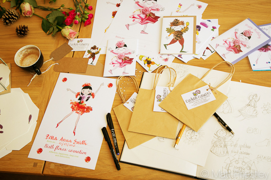 photographs of hand made greeting cards and illustrations by Bowdon designer Wendy Lee-14