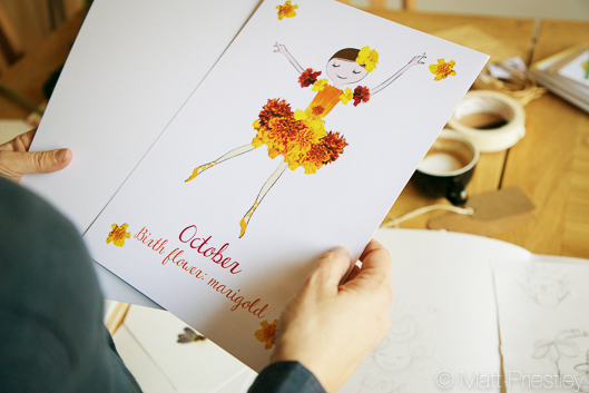photographs of hand made greeting cards and illustrations by Bowdon designer Wendy Lee-7
