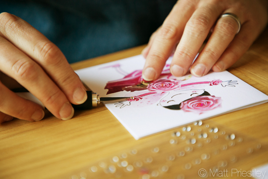 photographs of hand made greeting cards and illustrations by Bowdon designer Wendy Lee-8