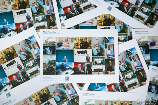 Promotional flyers by instanprint for commercial and PR photography Matthew Priestley -1
